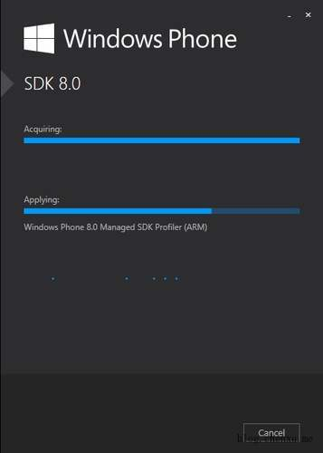 正在安装Windows Phone SDK 8.0
