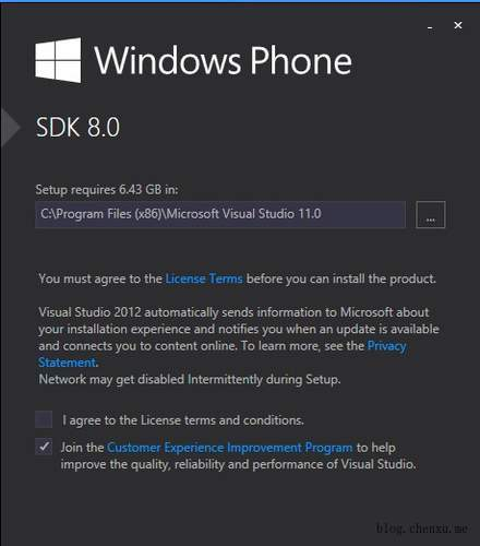 安装Windows Phone SDK 8.0